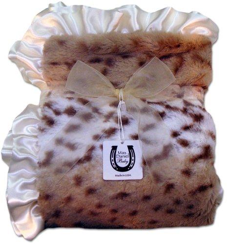 Max Daniel Baby Throw Blanket - Snow Leopard