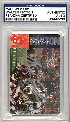 Sale!! Walter Payton Autographed Phone Card Chicago Bears Stock #119705 - PSA/DNA Certified - NFL Autographed Football Cards from Sports Memorabilia
