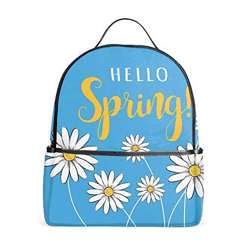 Hello Spring Simple Flora School Backpack for Girl/Boys Lightweight Travel Backpack