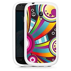 Silicona Carcasa blanco Funda para Samsung Galaxy S3 Mini - Rainbow Bubbles