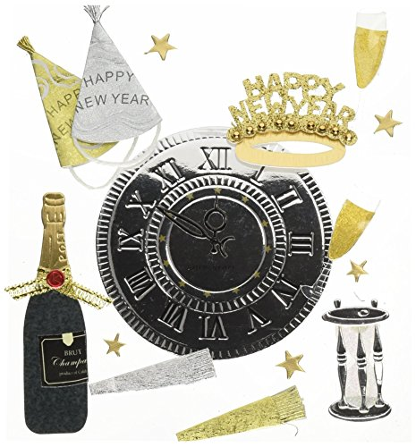 Jolee's Boutique Dimensional Stickers, Auld Lang Syne
