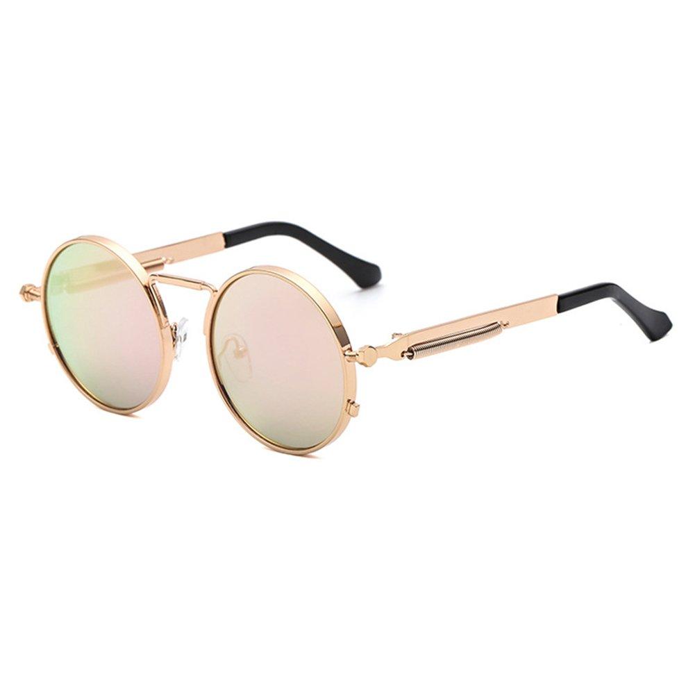 Vintage Runde Steampunk Sonnenbrille hibote Frauen Männer Retro ...