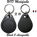 Lot de 10 badges Rfid Mif 1K 13.56Mhz - UID modifiable ( bloc 0 changeable )