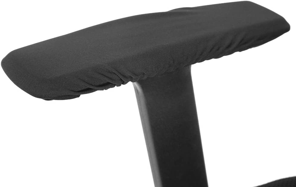 ANGGERK 1 Set Polyester Removable Chair Armrest Covers Elastic Protector Machine Washable Office Armchair Cover(Black)