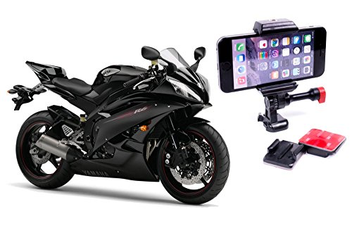 Universal Motorcycle & Helmet Cell Phone Mount Designed to Capture POV Videos with your Smartphone by Velocity Clip