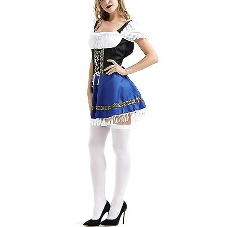 ZYUNYUN Maid Camarera Francesa Disfraz De Sirvienta Traje ...