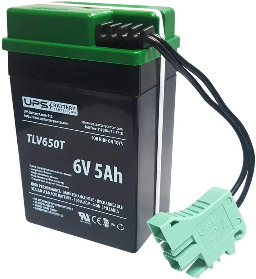 6V Compatible Replacement Battery for 6 Volt Peg Perego Banshee Ride-On Toy Battery