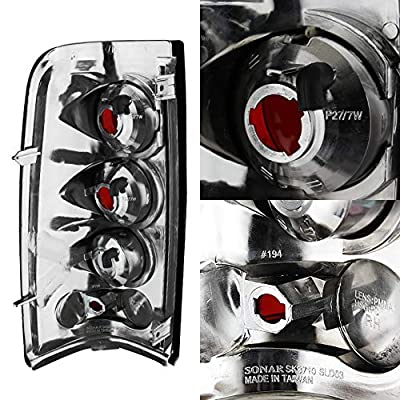 For 03-06 Chevy Silverado Smoked Headlights Front Lamps + Bumper Signal Light + Black Smoked Tail Lights Combo: Automotive