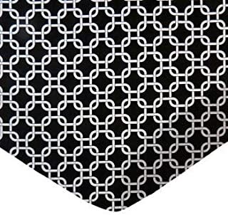 product image for SheetWorld 100% Cotton Percale Fitted Crib Toddler Sheet 28 x 52, Black Links, Made in USA