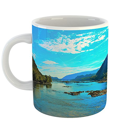 Westlake Art - Water Lake - 11oz Coffee Cup Mug - Modern Picture Photography Artwork Home Office Birthday Gift - 11 Ounce (3777-0C7BA) - Finest Reserve Port