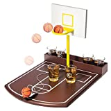 Drinking Party Game - Basketball Free Throw Shots - 6 Shot Glasses Incl.