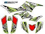 Senge Graphics All Years Kawasaki KFX 700, Mayhem Green Graphics Kit