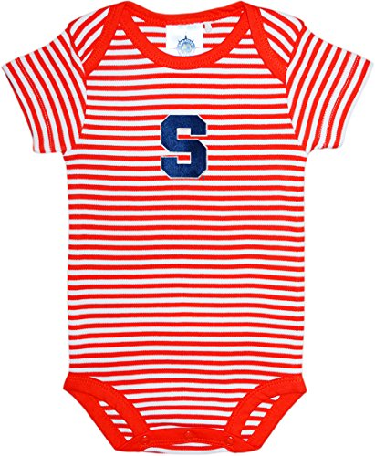 - Creative Knitwear Syracuse University Striped Baby Bodysuit Orange