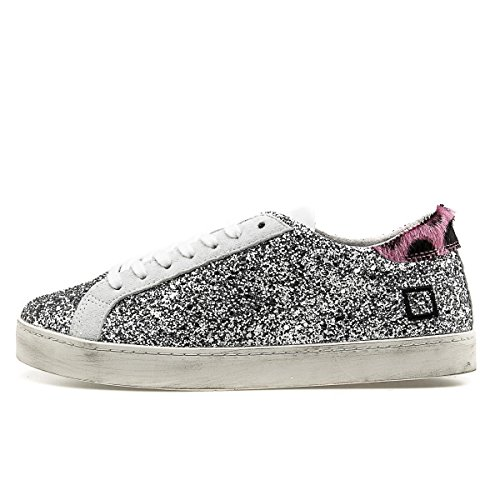 Low Silver Size Glitter Hill Donna Date Sneakers 37 Basse IqwxznHO