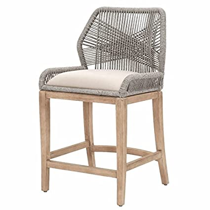Miraculous Amazon Com Maklaine Counter Stool In Platinum Rope And Pabps2019 Chair Design Images Pabps2019Com