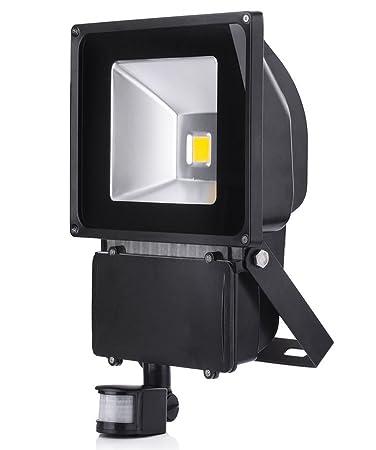 ALPHA DIMA 100W Foco LED con Sensor Movimiento Foco Exterior LED ...
