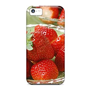 New Fashion Premium Tpu Case Cover For Iphone 5c - Strawberry Treat