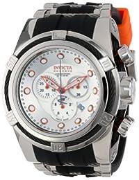 Invicta Men's 14071 Bolt Reserve Chronograph Silver Dial Black Polyurethane Watch