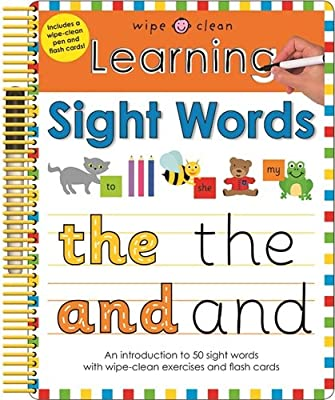 Learning Sight Words: Wipe Clean Spirals: Roger Priddy ...