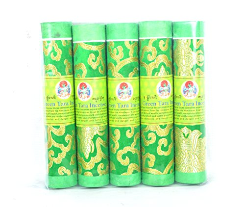 - Bermoni Ltd Bhutanese Aromatic Incense Tibetan Meditation Joss Incense Sticks- Pack of 5 Green Tara Incense (FH-INS-1032GTAR)