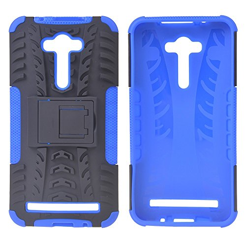 Asus Zenfone 2 Laser ZE550KL (5.5 inches) Funda,COOLKE Duro resistente Choque Heavy Duty Case Hybrid Outdoor Cover case Bumper Para Asus Zenfone 2 Laser ZE550KL (5.5 inches) - azul azul