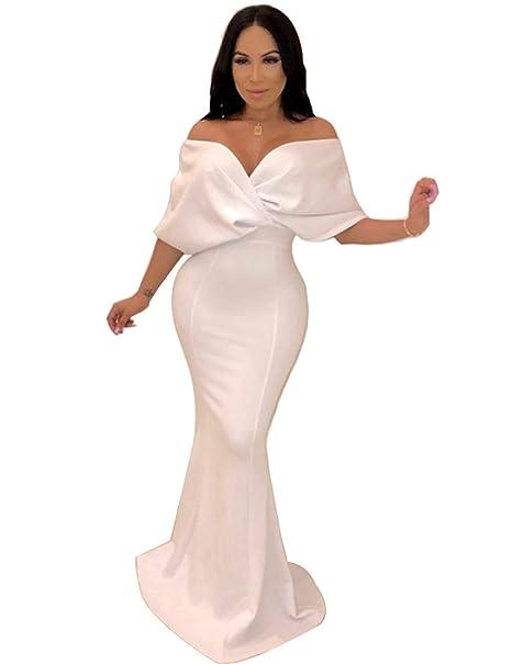 YONGYONGCHONG Vestido de Punto de Verano sin Espalda de Mujer ...
