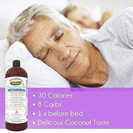 MaryRuth Organics Vegan noche MULTIMINERALES (coco) más alta pureza Natural ingredientes líquidos: Amazon.es: Salud y cuidado personal