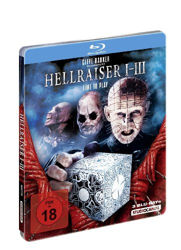 Hellraiser 1, 2, 3 Blu-Ray Steelbook Edition 1st printing Out of Print Region - Blu Two Ray Hellraiser