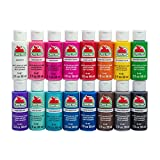 apple barrel acrylic paint set - Apple Barrel PROMOABIII Acrylic Paint Set, 16 Piece (2-Ounce), Best Selling Colors