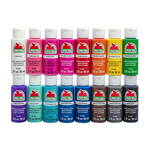 - Apple Barrel PROMOABIII Acrylic Paint Set, 16 Piece (2-Ounce), Best Selling Colors