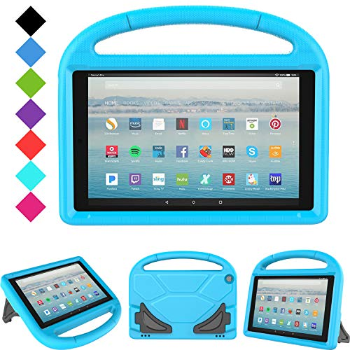 All-New Fire HD 10 2019/2017 Tablet Case - TIRIN Light Weight Shock Proof Handle Stand Kids Friendly Case for Amazon Fire HD 10.1 Inch Tablet (9th/7th Generation, 2019/2017 Release), Blue