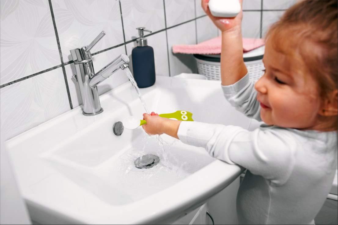 Qshare Baby-Utensilien L/öffel mit Reisekoffer perfekte selbstlernende Lernl/öffel F/ütterungs-Trainingsl/öffel f/ür Kleinkinder mit einfachem Griff und biegbarer Funktion
