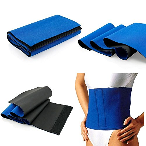 Waist Trimmer Exercise Wrap Belt Slimming Burn Fat Sweat Weight Loss Body Shaper by Ministry of Warehouse (Best Exercise Machine For Cellulite)
