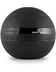 CAPITAL SPORTS Groundcracker - medicijnbal, slamball, fitnessbal, krachttraining, duurtraining, coördinatie, vulling: zand/ijzer, wasbaar, zwart, gewicht: 18 kg