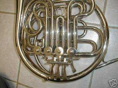 Silver Double French Horn, F/Bb key