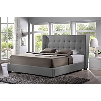 baxton studio bbt6386 king grey de800 b 62 favela linen modern bed with upholstered headboard king grey