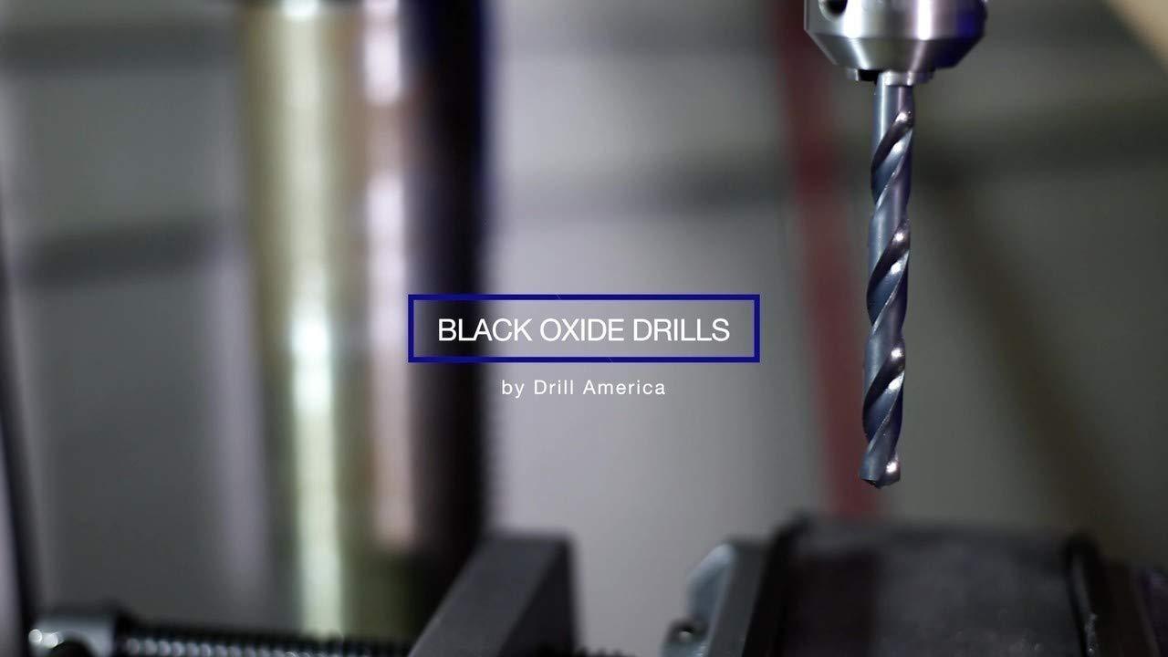 Pack of 12 Drill America E High Speed Steel Heavy Duty Split Point Stub Drill Bit D//AST Series