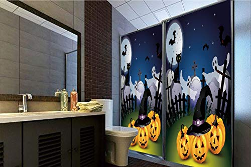 Horrisophie dodo No Glue Static Cling Glass Sticker,Halloween,Funny