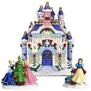 Disney Princess Christmas Lighted Castle Village Cinderella Snow White Aurora