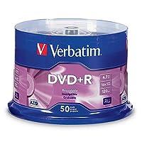Verbatim 95037 DVD + R 4.7GB 16x AZO Disco de medios grabable - 50 discos de husillo