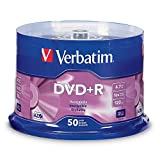 Verbatim 95037 DVD+R 4.7GB 16x AZO Recordable Media Disc - 50 Disc Spindle