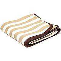 Snugzeez Stripe Blanket, Light Brown,