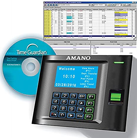 Amano mtx-30 F/A969 mtx-30 reloj de tiempo biométrico de huellas digitales: Amazon.es: Electrónica