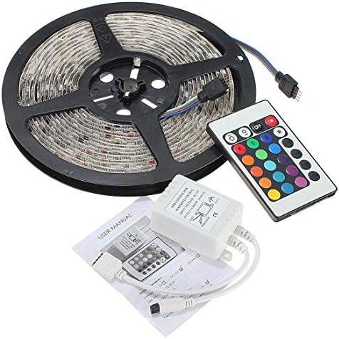 WXQ-XQ LEDストリップ、2X 5M防水300 LEDストリップライト5050 RGB 24キーコントローラDC 12V文字列ライト 装飾ランプ