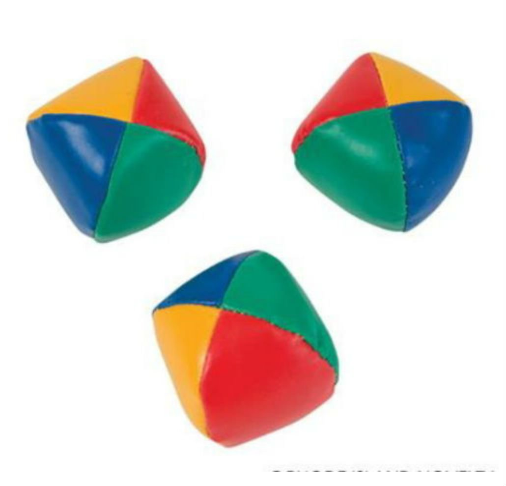 SET OF 3 LEARN TO JUGGLE BALLS JUGGLING BALL WITH INSTRUCTIONS 2.25'' by Unbranded (Image #2)