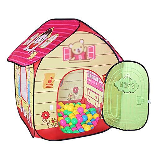 ZYH テント、子供のパズルテントの屋内ゲームハウスのおもちゃの部屋オーシャンボールプールのベッドルームのおもちゃのストレージハウス80 * 80 * 105CMを折りたたむ 広いスペース (色 : A)