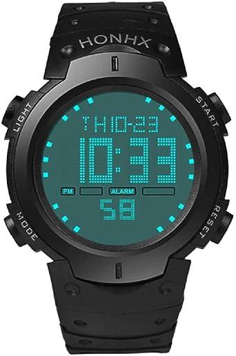 WSSVAN Reloj deportivo, reloj multifuncional LED electrónico de ...
