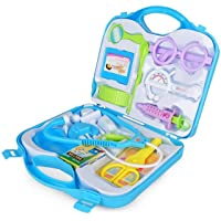 NK STAR Doctor Plastic Playset Kit with Fold able Suitcase, Compact Medical Accessories Toy Set Pretend Play Kids Fun Toy Gift Early Education for Kids (Multicolor)