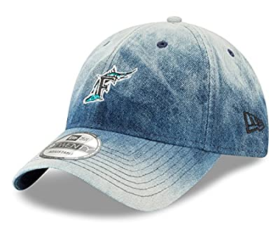 "Florida Marlins New Era MLB 9Twenty Cooperstown ""Denim Wash"" Adjustable Hat from New Era"