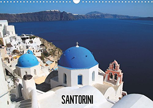 Calendar for self printing- Beautiful Santorini 2018: DIN A4 (8.3 x 11.7 inches) Landscape Calendar – Holidays UK (Big Pictures Calendar Book 99)